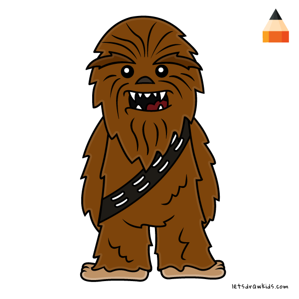 How to draw chibi. Chewbacca clipart simple