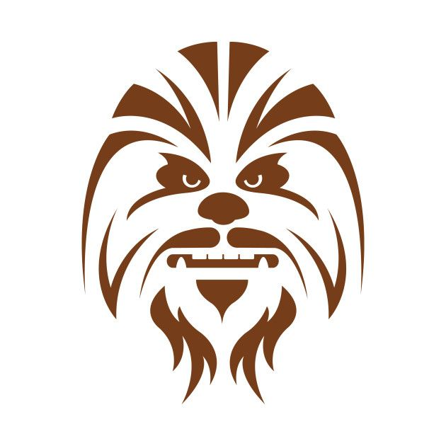 Chewbacca clipart simple. By designwise silhouette pinterest