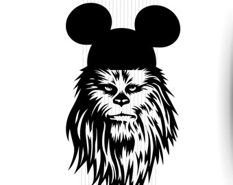 Etsy . Chewbacca clipart svg