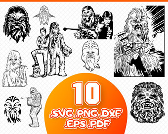 Chewbacca clipart svg. Etsy