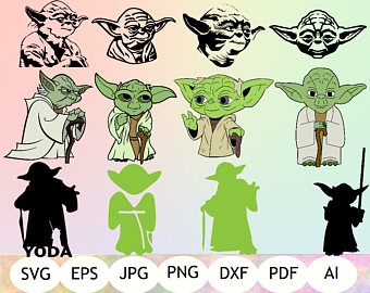 Printable instant yoda download. Chewbacca clipart svg