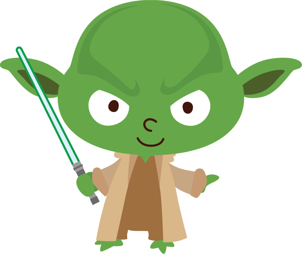 Starwars clipart transparent background. Star wars yoda by