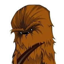 Star wars ai eps. Chewbacca clipart vector