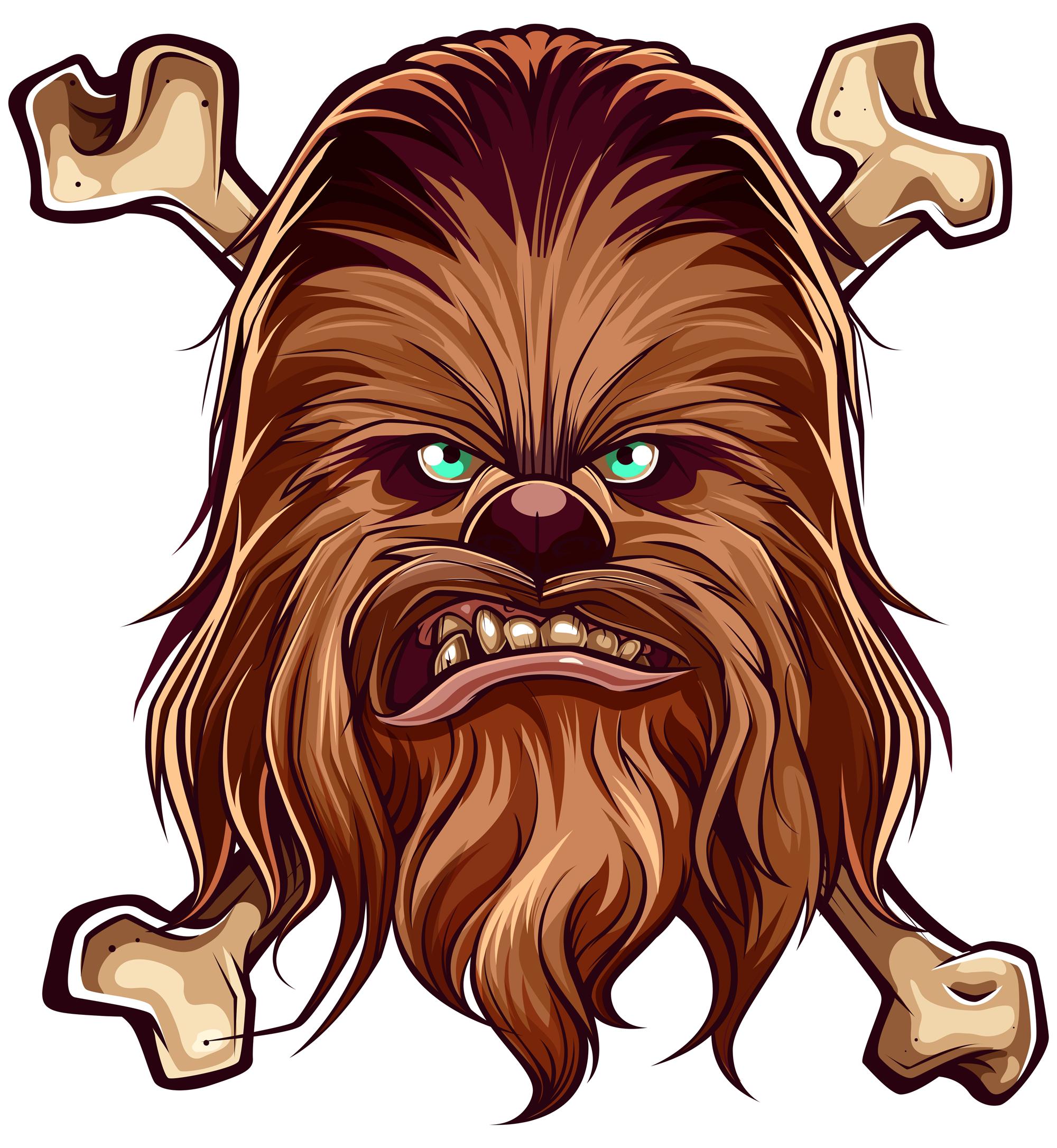 Ggwwwarghh illustration by juan. Chewbacca clipart vector