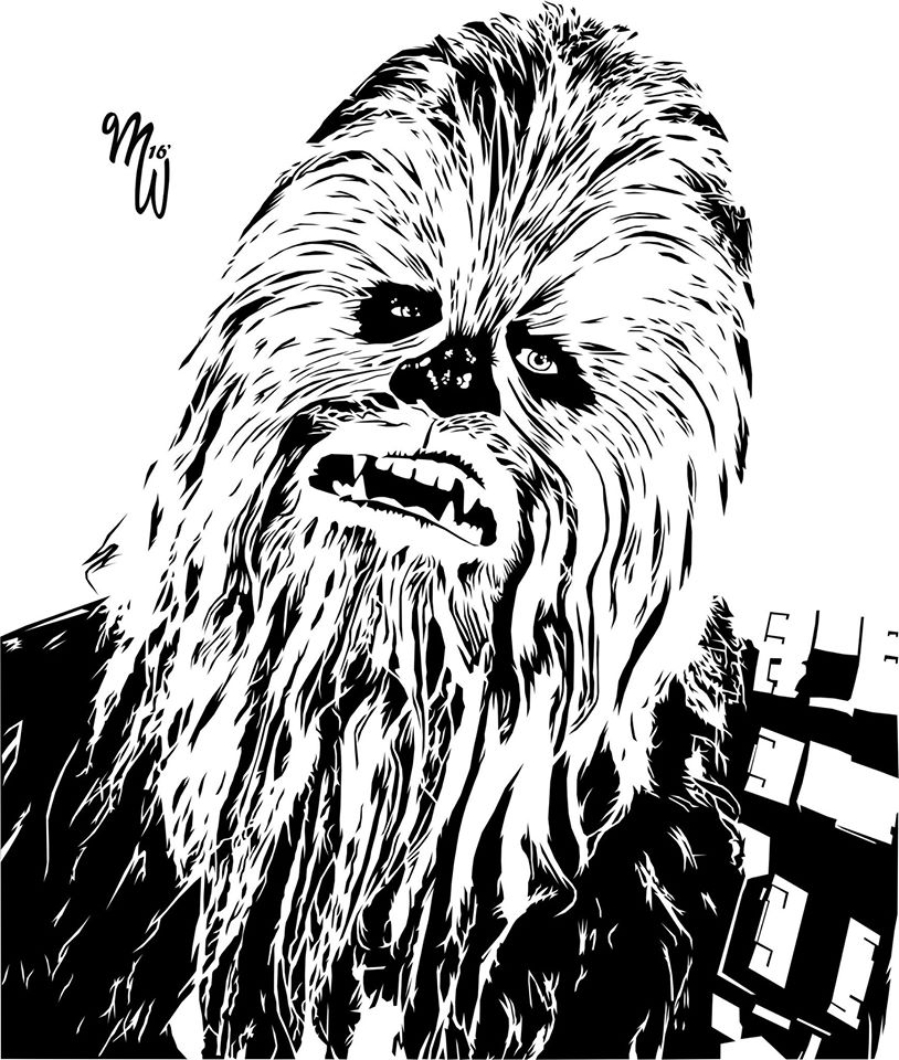 Chewbacca clipart vector. Fan art by milliewright