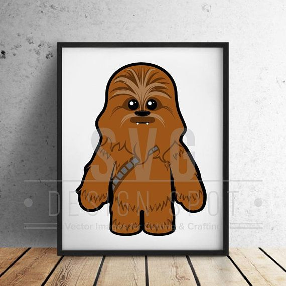 Star wars baby svg. Chewbacca clipart vector