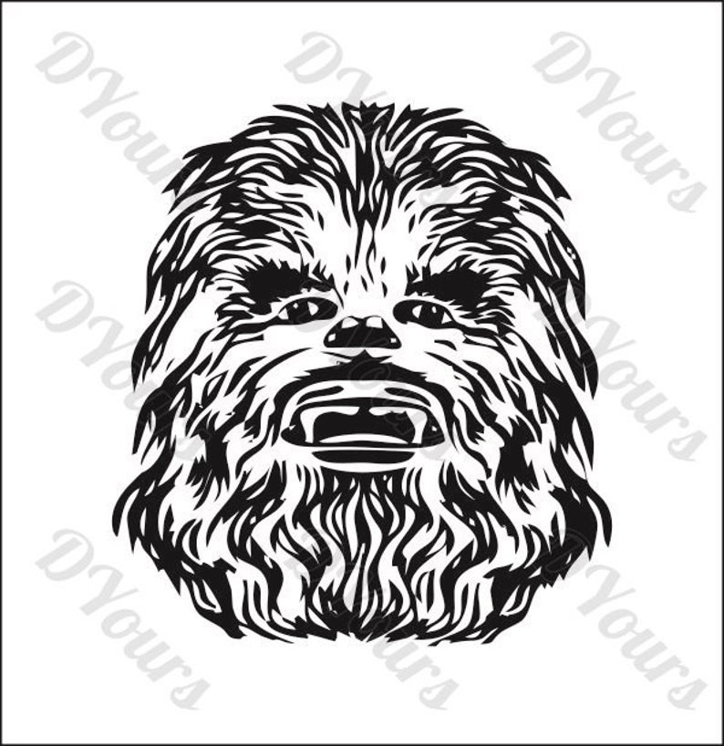 Star wars model svg. Chewbacca clipart vector
