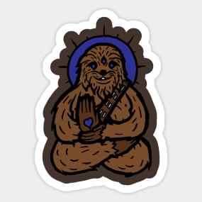 Chewbacca clipart wookie. Stickers teepublic spirit chewie