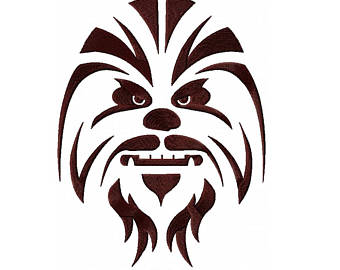 Belt clipart chewbacca. Embroidery etsy star wars