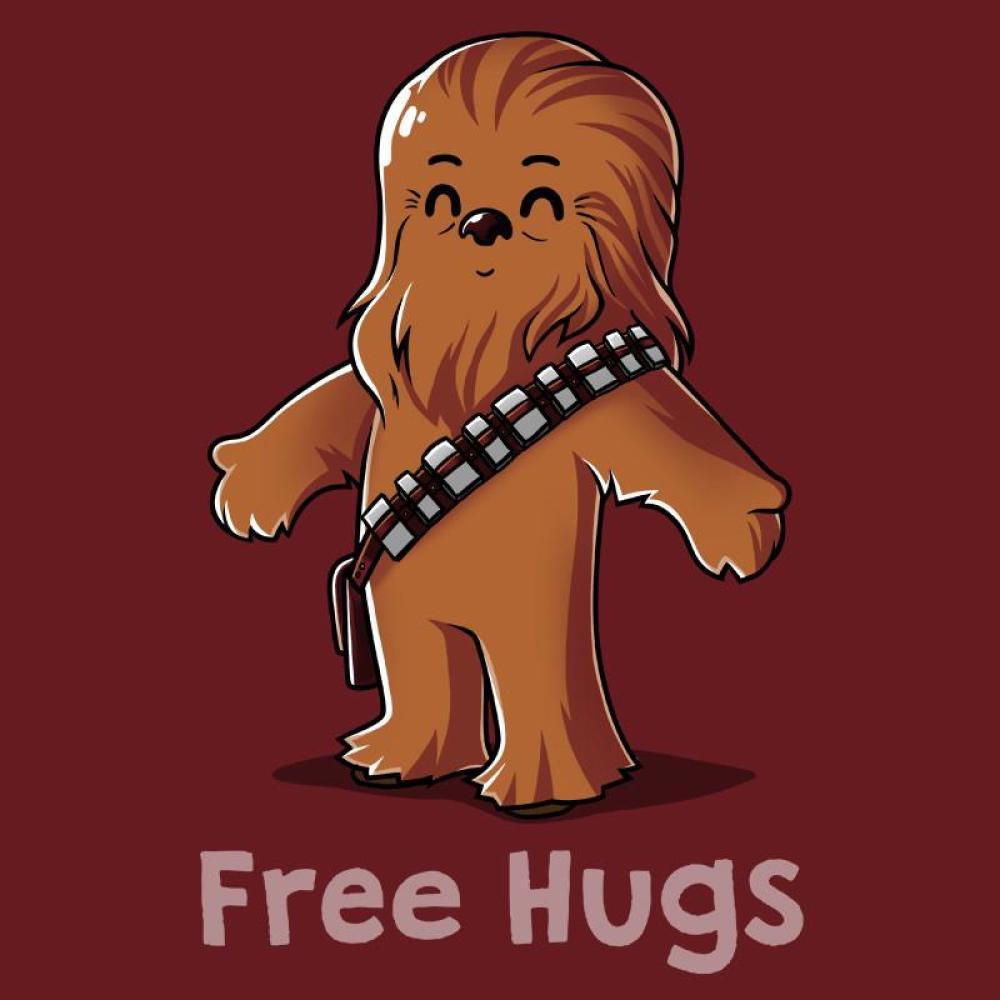 Hug a wookiee t. Chewbacca clipart wookie