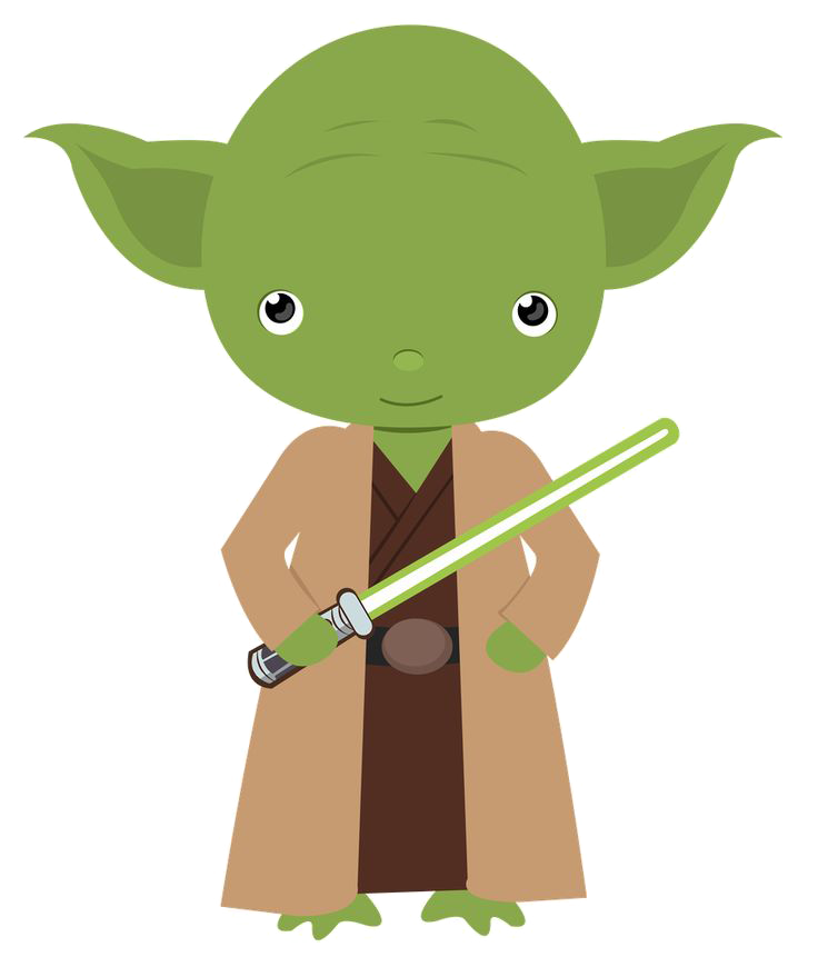 Yoda star wars . Starwars clipart transparent background