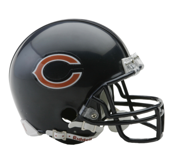 Chicago bears helmet png. Nfl mini replica