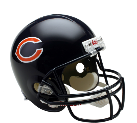 Chicago bears helmet png. Full size replica