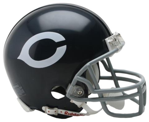 Vsr mini throwback footballhelmets. Chicago bears helmet png