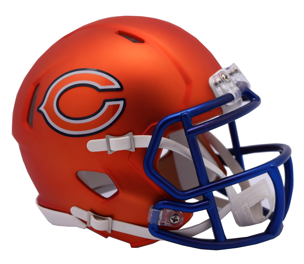 Chicago bears helmet png. Nfl blaze alternate speed