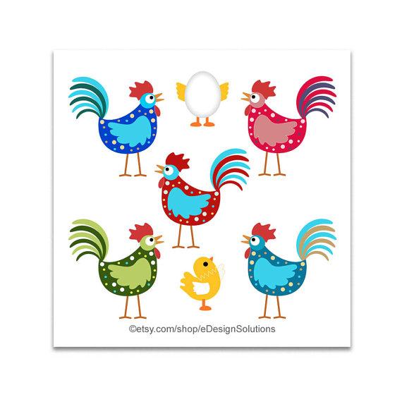 Chickens clipart hen. Cartoon chicken baby chick