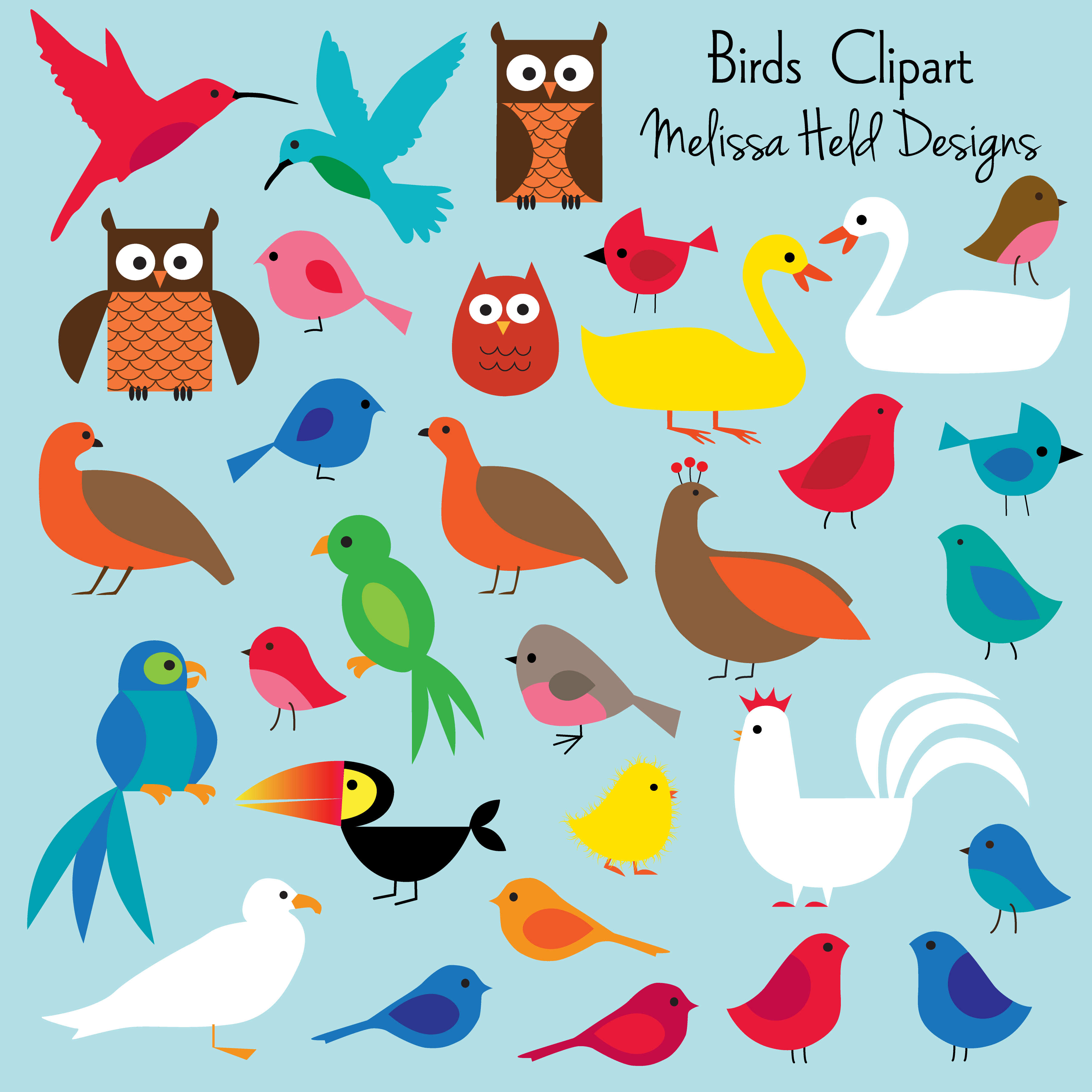 Birds clipart. Hens bird and