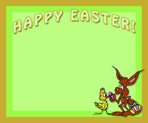 Chick clipart border. Free happy easter borders