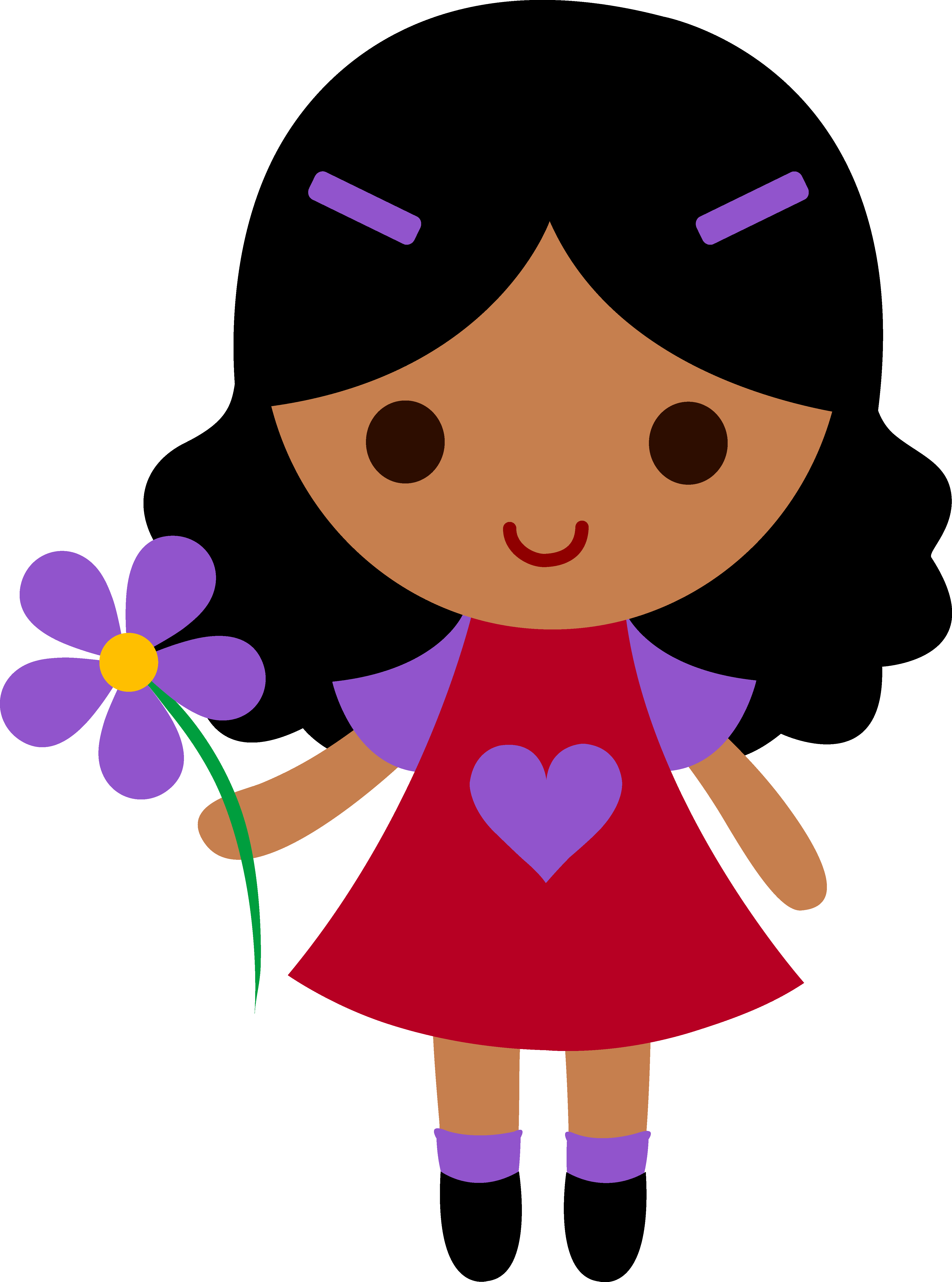 Cute cartoon . Hungry clipart little girl