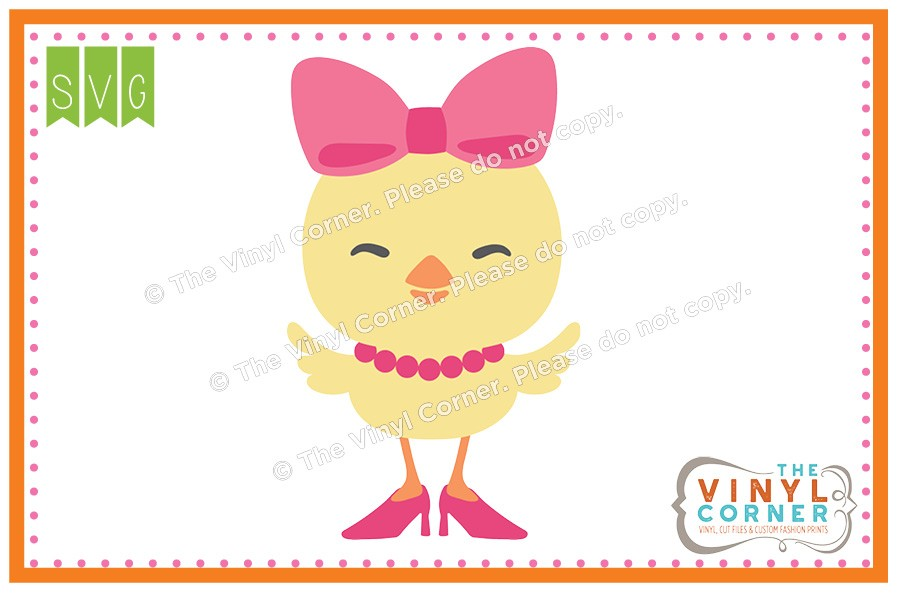 Applique corner girl svg. Chick clipart design
