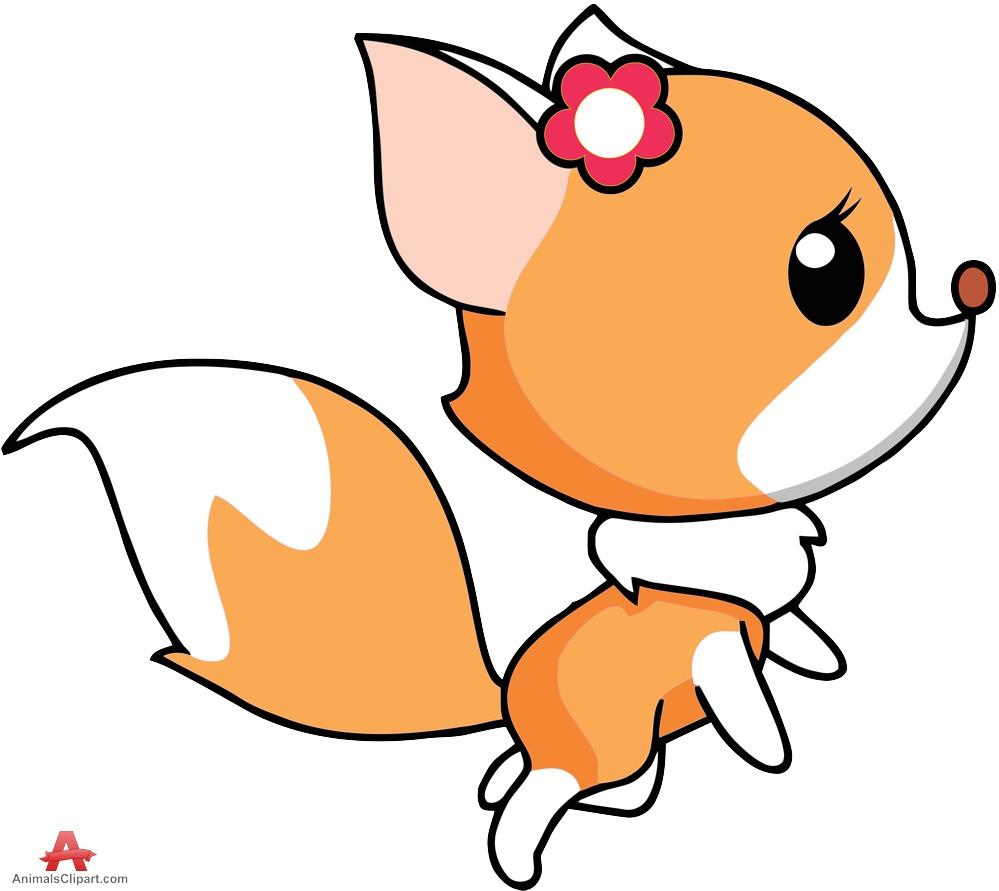 Clipart gallery. Cute fox girl cartoon