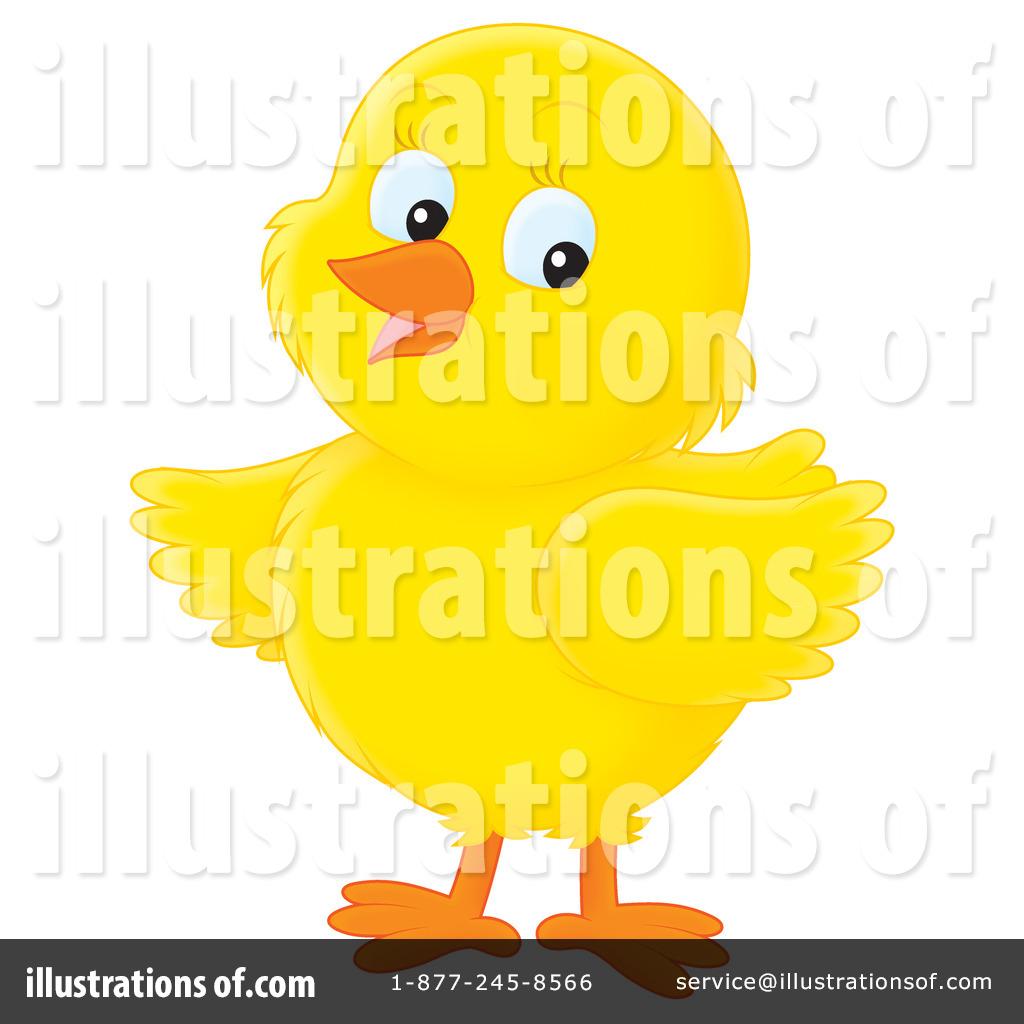 Illustration by alex bannykh. Chick clipart duck