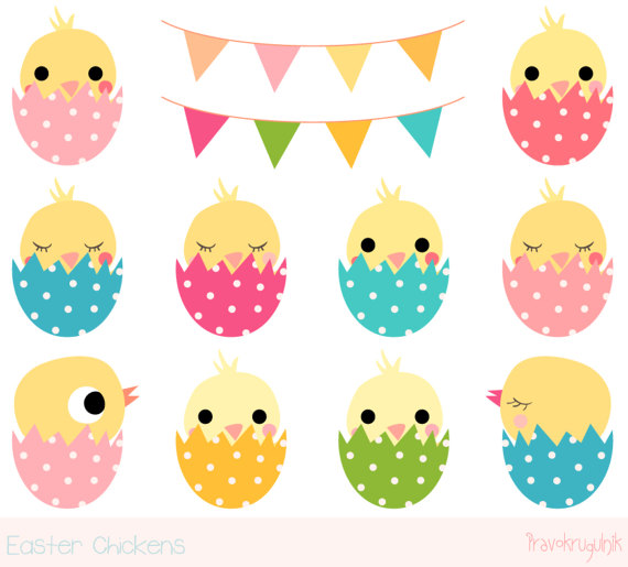 Chick clipart easter. Cute chicken kawaii clip