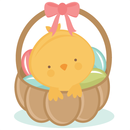 In scrapbook cuts svg. Chick clipart easter basket