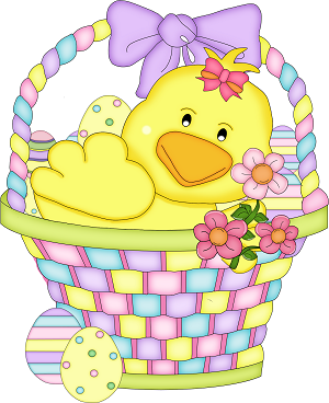 Chick clipart easter basket.  t r e