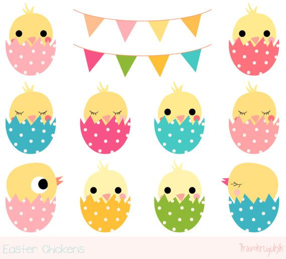 Cute chicken kawaii by. Chick clipart easter basket