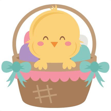 best images on. Chick clipart easter basket
