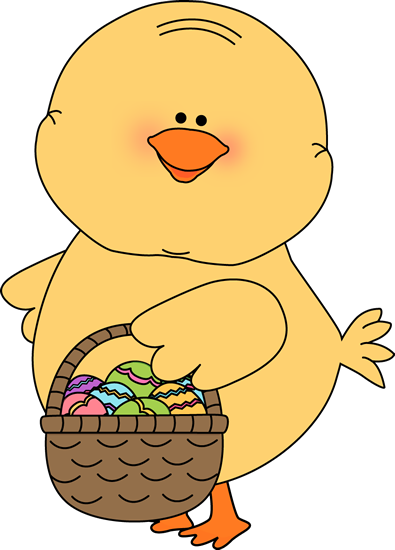 Chick clipart easter basket. Free download clip art