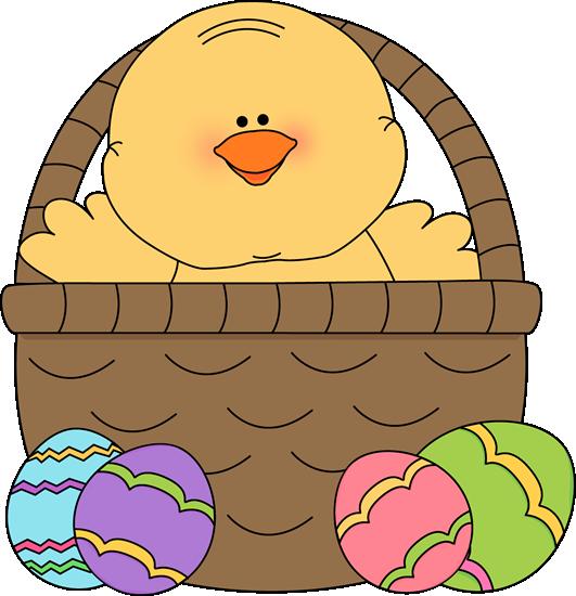 chick clipart easter basket