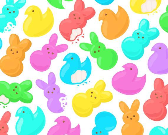 Chick clipart easter bunny. Rainbow marshmallow treats