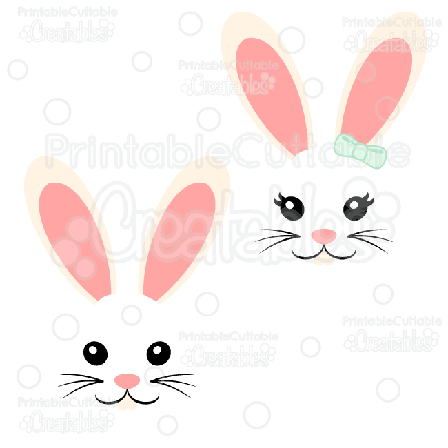 Girl face free svg. Clipart boy easter bunny