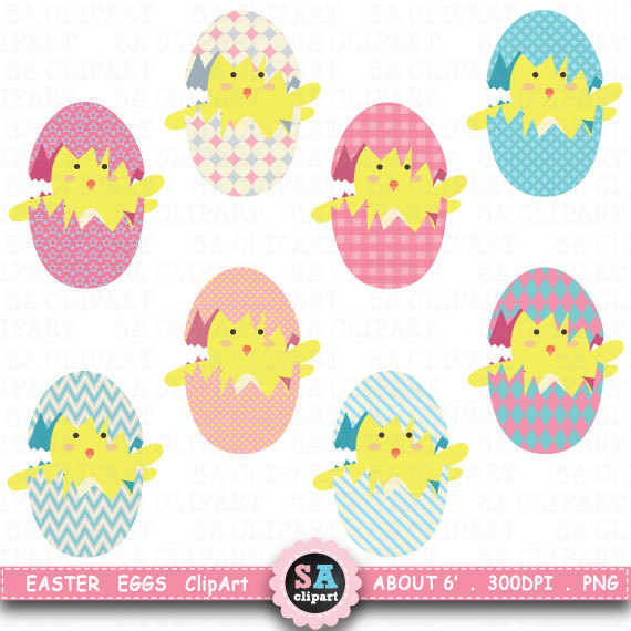 Items similar to eggs. Baby clipart easter
