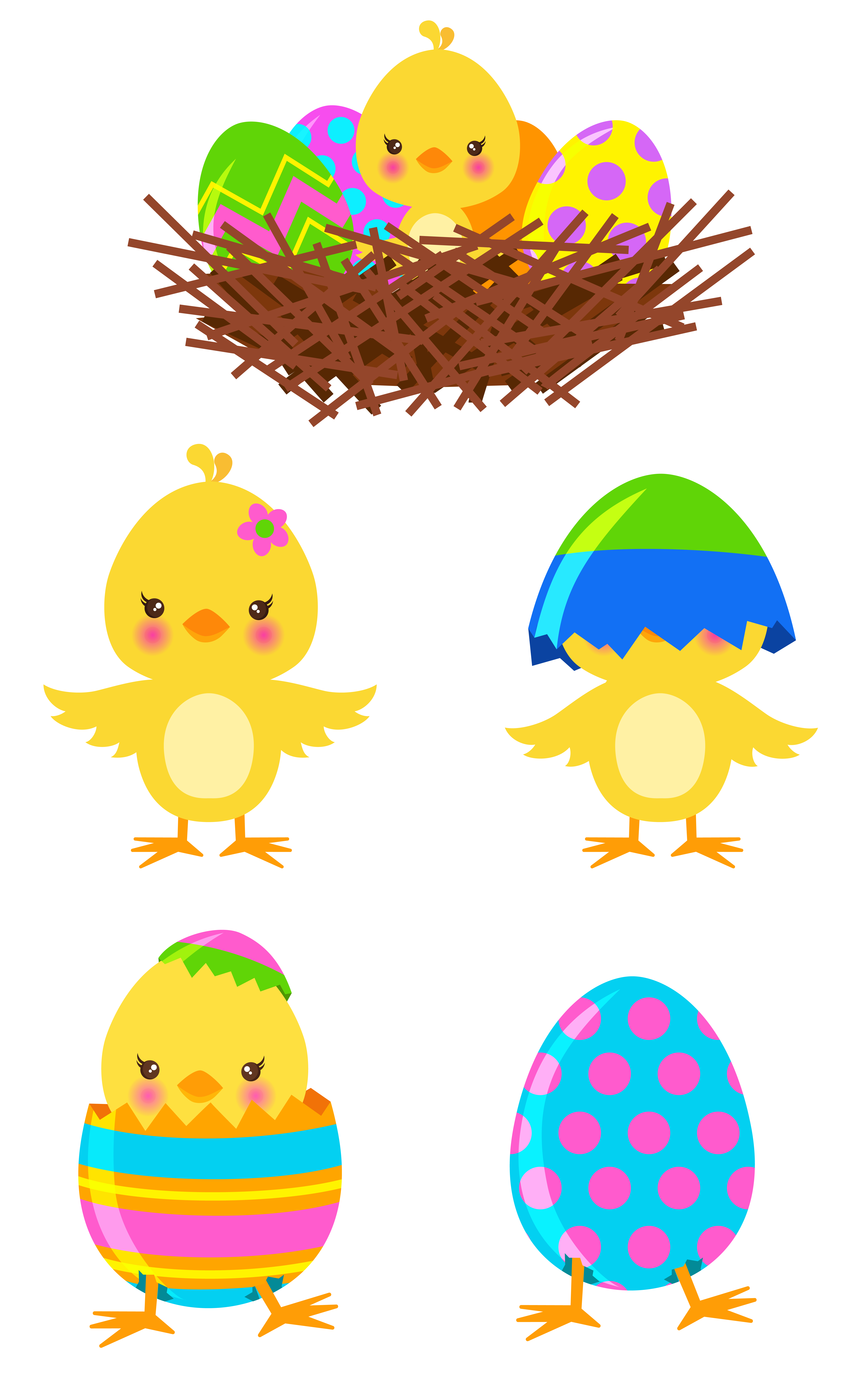 Clipart easter chalkboard. Chicks set png gto