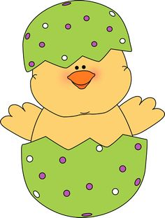chick clipart easter egg