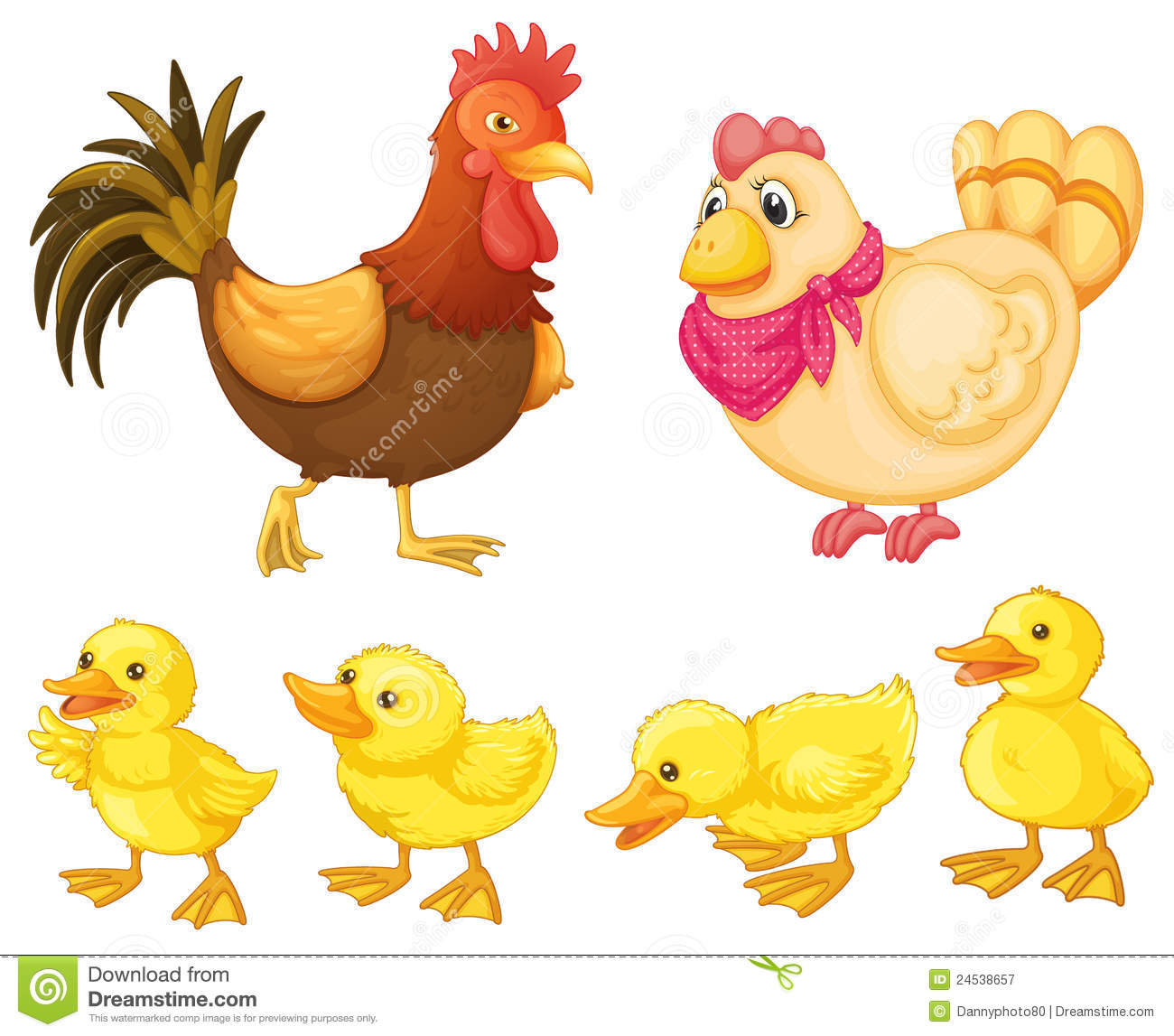 chick clipart family