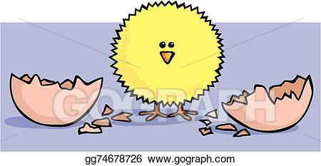 Vector art hatch drawing. Chick clipart fluffy