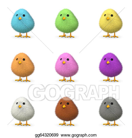 Drawing colorful chicks gg. Chick clipart fluffy