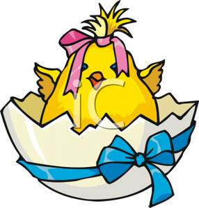 Cute baby wearing a. Chick clipart fuzzy