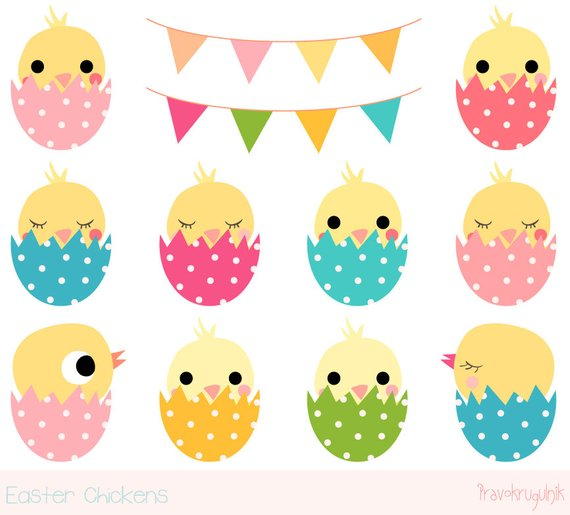 Chickens clipart chick. Easter cute chicken kawaii