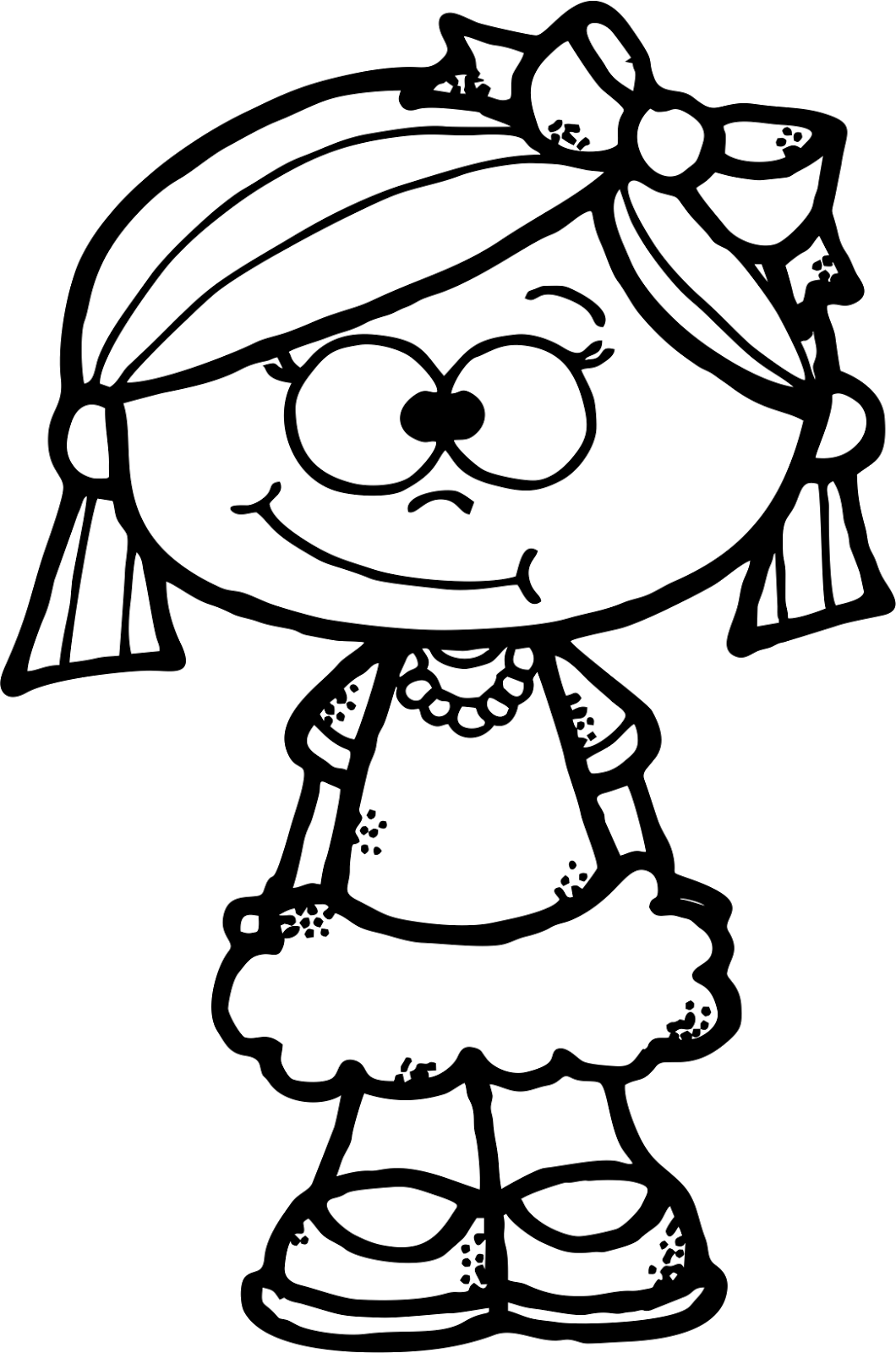 Quilt clipart sketch. Worksheetjunkie cute girl freebie