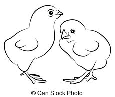 Chick clipart line. Black and white station