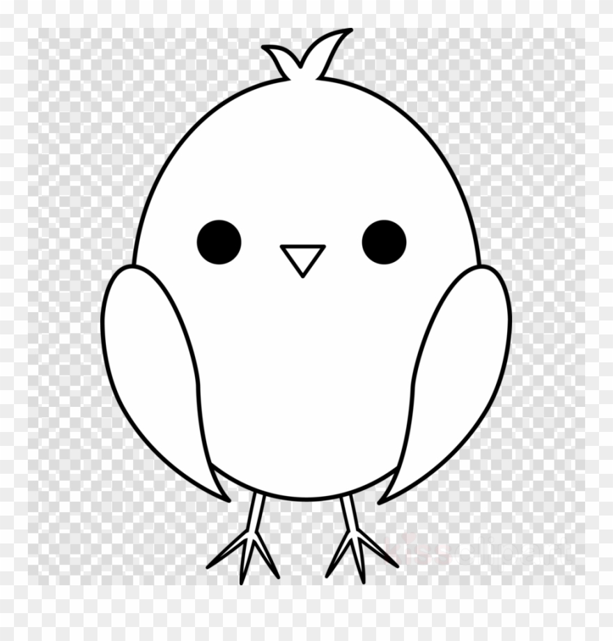 Chick clipart line drawing. Baby clip art chicken