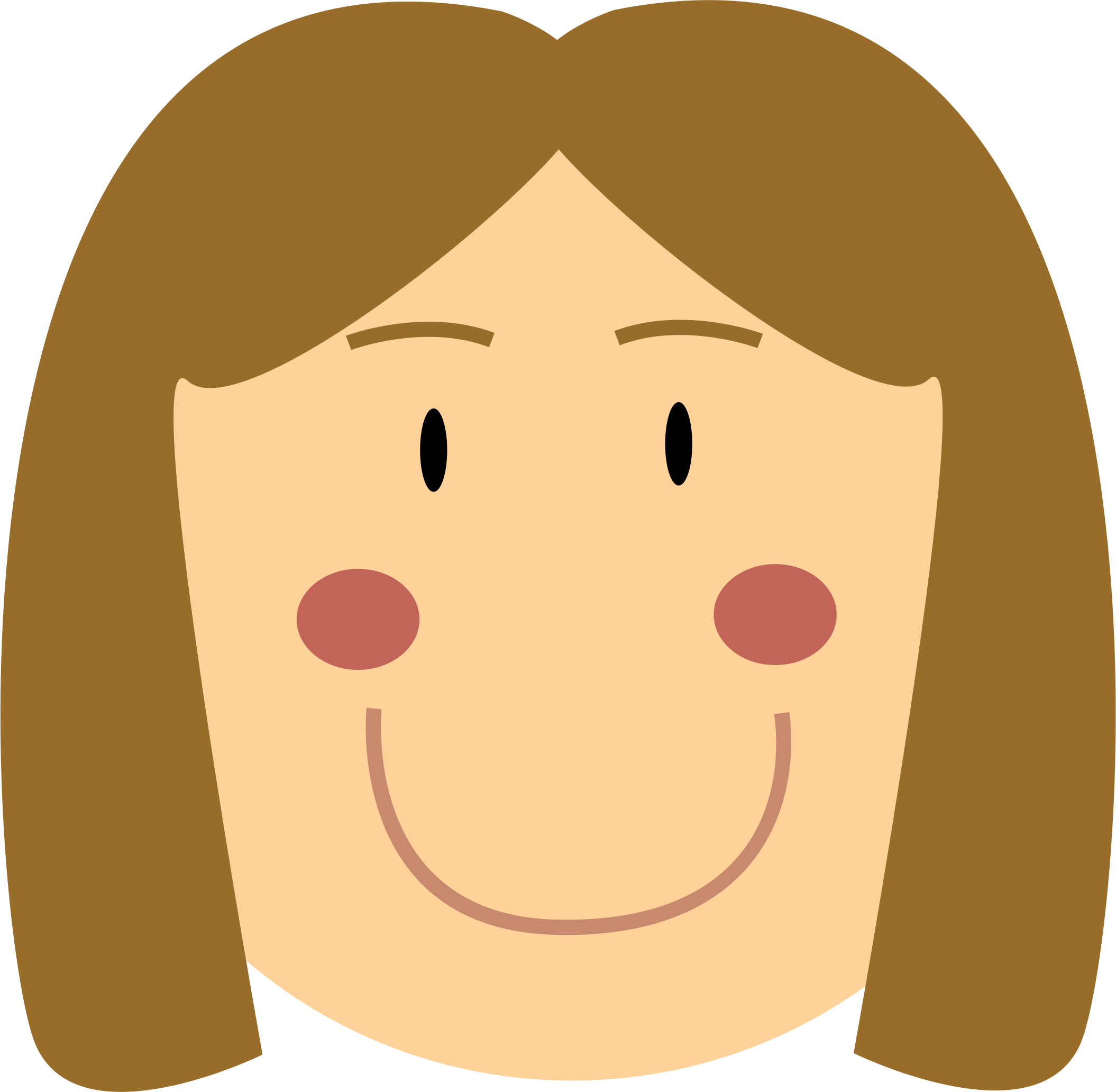 Simple big image png. Girl clipart nose
