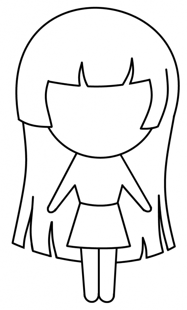 Chick clipart simple. Girl drawing at getdrawings