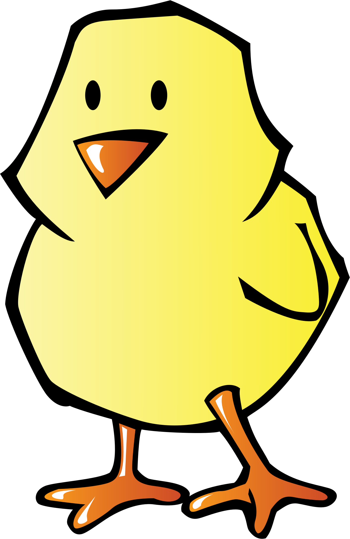 Chick big image png. Animals clipart chicken