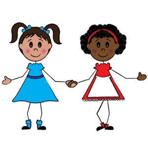 Free girls image acclaim. Friendly clipart two little